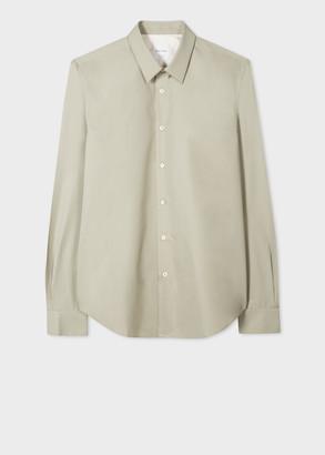 Paul Smith Men's Slim-Fit Pistachio Cotton-Silk Blend Shirt