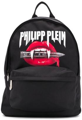 Philipp Plein Logo Print Backpack