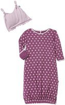 Kickee Pants Infant Gown & Hat Set (Baby) - Amethyst Berries-0-3 Months