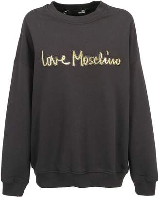 Love Moschino Logo Embossed Sweater