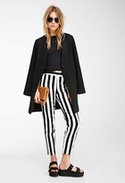 Forever 21 FOREVER 21+ Awning Striped Straight-Leg Trousers