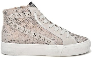 Vintage Havana Snakeskin-Embossed Leather High-Top Runners