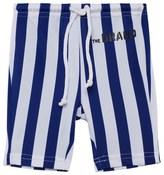 The BRAND Blue and White Stripe Swim Shorts
