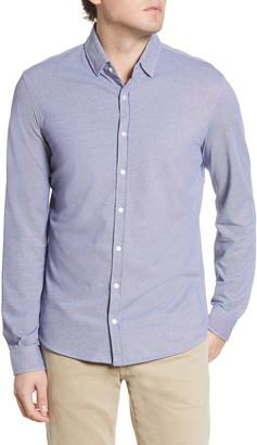 Brax David Modern Fit Hi Flex Jersey Button-Up Shirt