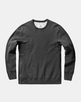 Reigning Champ Side Zip Long Sleeve Crewneck (Heather Charcoal)