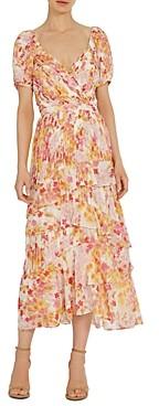 ML Monique Lhuillier Printed Pleated Dresses