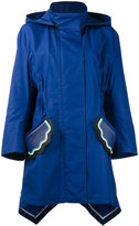 Fendi scallop pocket parka - women - Silk/Cotton/Polyester/Spandex/Elastane - 40