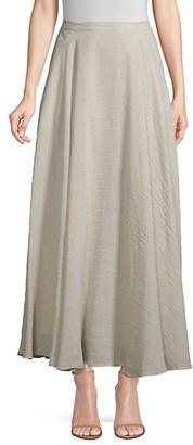 Lafayette 148 New York Ambria Linen-Blend A-Line Maxi Skirt