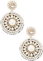 Kate Spade Women's Gold -Plated Metal and Leather Statement Earrings