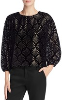 Alice + Olivia Burnout Velvet Top