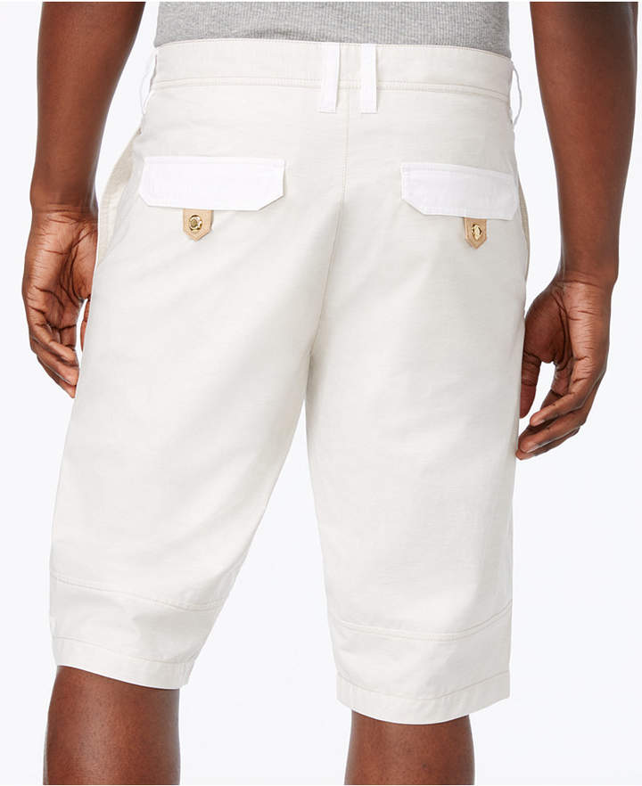 "Sean John Men's Big & Tall Mixed-Media Utility 12.5"" Shorts"