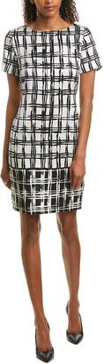 St. John Silk-Blend Shift Dress