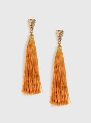 Evans Orange Tassel Earrings