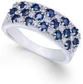 Macy's Sapphire (1-5/8 ct. t.w.) & Diamond (1/3 ct. t.w.) Ring in 14k White Gold