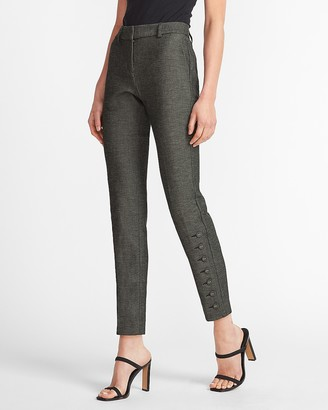 Express Mid Rise Side Button Columnist Ankle Pant