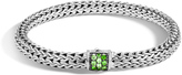 John Hardy Women's Classic Chain 6.5MM Bracelet in Sterling Silver with Red Spinel