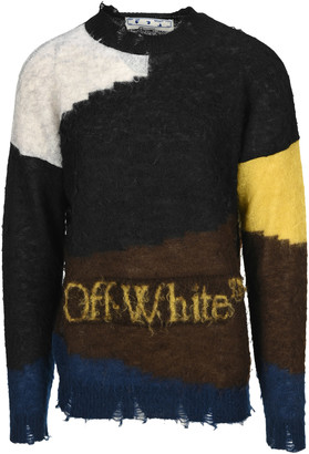 Off-White Off White Distressed Jumper