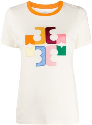 Tory Burch colour block logo T-shirt