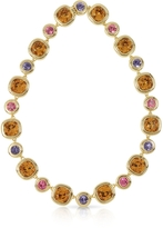 Forzieri Purple, Pink and Orcher Crystals Necklace