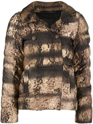 Prada Pre-Owned Animal Print Puffer Jacket