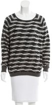 Allude Geometric-Patterned Cashmere Sweater w/ Tags