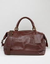 Barbour Leather Explorer Holdall Tan