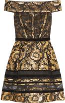 Oscar de la Renta Brocade mini dress