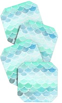 DENY Designs Wonder Forest Mermaid Scales Coaster Set