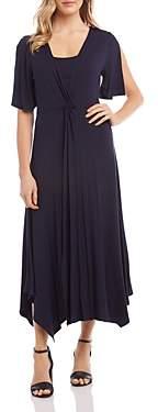 Karen Kane Twist-Front Maxi Dress