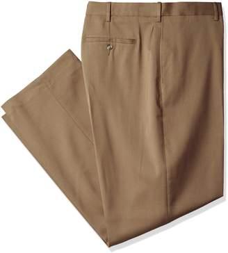 Savane Men's Big-Tall Big & Tall Flat Front Stretch Crosshatch Dress Pant