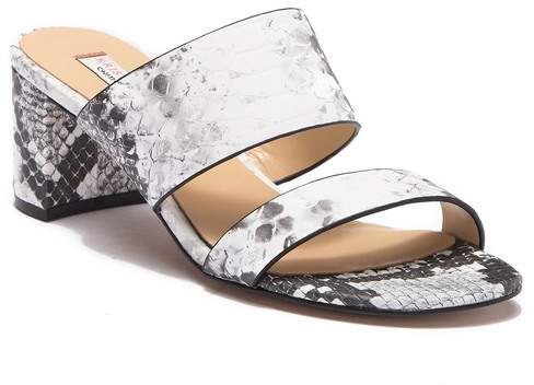 Kristin Cavallari by Chinese Laundry Two Banded Snake Embossed Block Heel Sandal