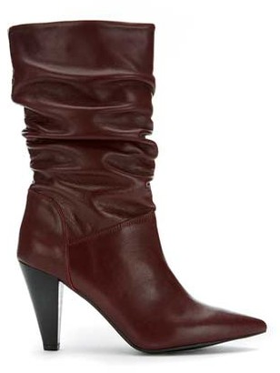Mint Velvet Harley Burgundy Leather Boots