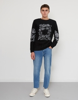 Soulland Damian Merino Wool Embroidered Jumper Black
