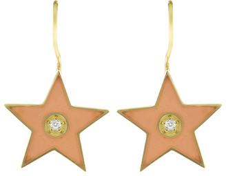 Andrea Fohrman Small Enamel Diamond Star Earrings