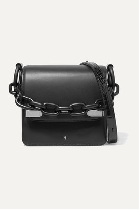 Gu De Smooth And Croc-effect Leather Shoulder Bag