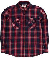 Lee Cooper Kids Boys Long Sleeve Check Shirt Junior Casual Lightweight Cotton