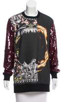 Givenchy Sequined Oversize Sweatshirt