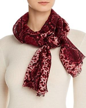 Bloomingdale's Snake Print Wool Scarf - 100% Exclusive