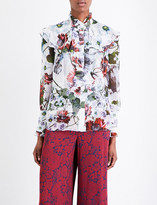 Erdem Ruffled silk shirt