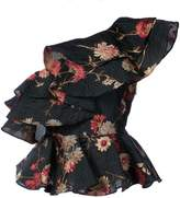 Prabal Gurung floral one shoulder ruffled top