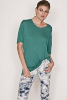 Monrow Pocket Tee in Emerald Green