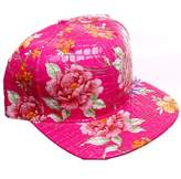 Crown Faux Alligator Floral All Over Print Snapback Baseball Cap