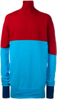 J.W.Anderson roll neck bicolour jumper - men - Polyamide/Viscose/Virgin Wool - M