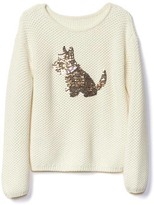 Gap Sequin animal textured sweater