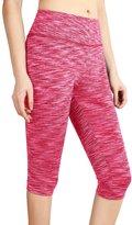 DJT Womens Space Dye Active Sports Capri Leggings Yoga Pants