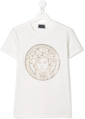 Versace TEEN studded logo T-shirt