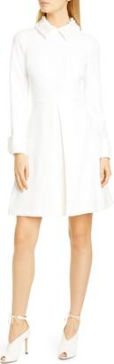 Badgley Mischka Embellished Collar Long Sleeve Cocktail Dress