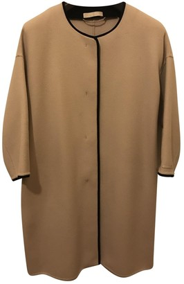 Max Mara 's Beige Wool Coat for Women