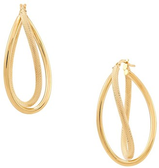 Saks Fifth Avenue Made In Italy 14K Yellow Gold Twist Oval Earrings