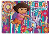 "Zak Designs Zak Design ""Dora The Explorer"" Kids Meal Time Plastic Placemat! Featuring Dora & Boots! Makes Clean Up A Breeze!"